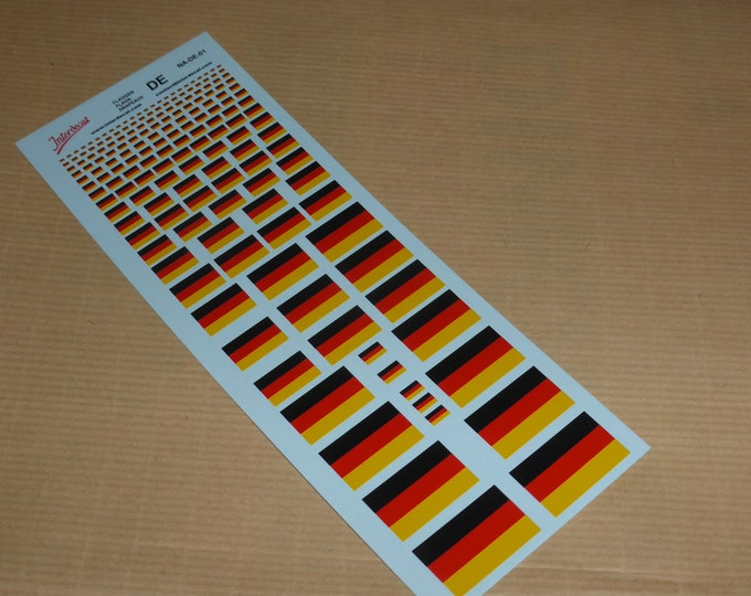 decals with German flags various scales Tin Wizard NA-DE-01