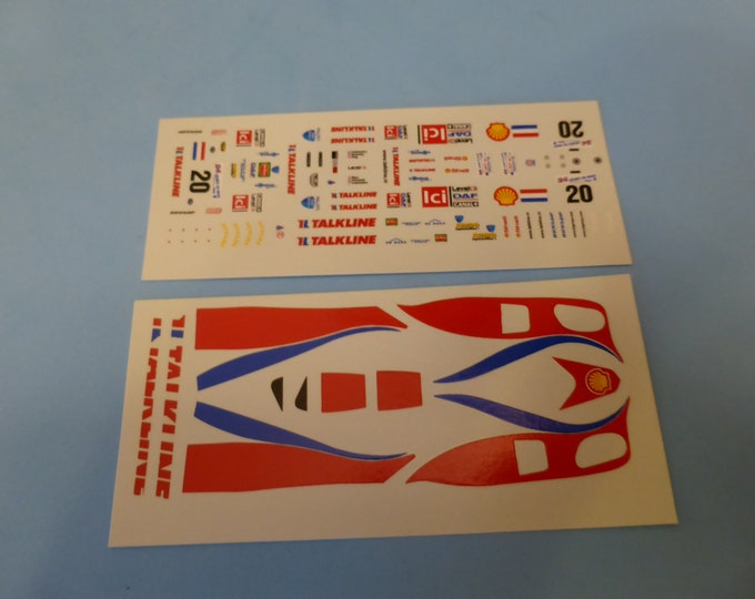 1:43 decals for Lola Ford B2K/10 LMP900 Konrad Motorsport Le Mans 2000 #20 Coronel/Lammers/Kox