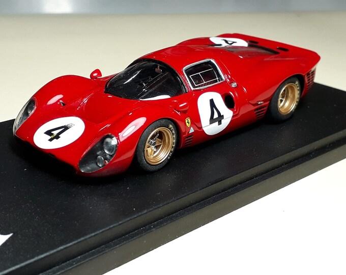 Ferrari 330 P4 ch.0858 1000km Monza 1967 #4 Parkes/Scarfiotti REMEMBER Models 1:43 Factory built