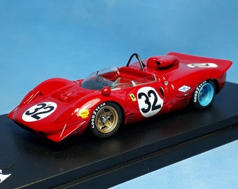 Ferrari 350 Can-Am chassis 0844 NART Mosport 1967 #32 Scarfiotti REMEMBER Models 1:43 Factory built