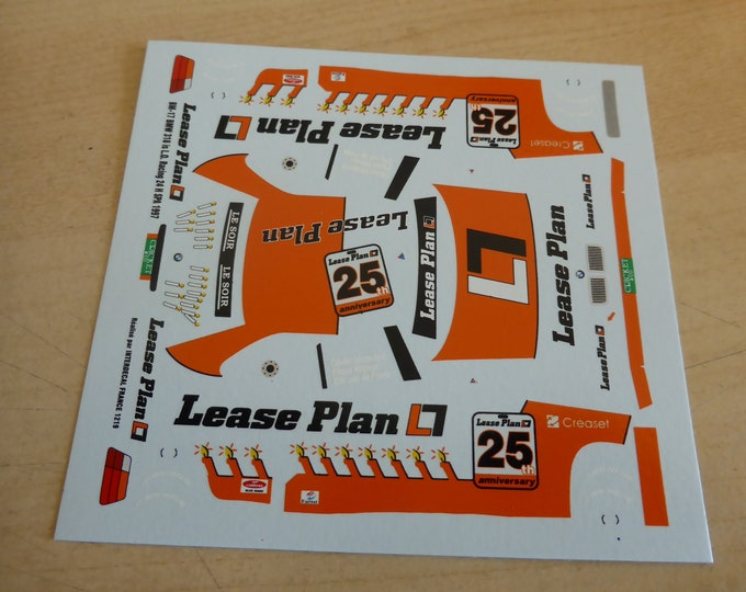 high quality 1:43 decals BMW 3i8iS Lease Plan 24h Spa 1997 #25 Marechal/Witmeur/Van de Poele Interdecal JA1219