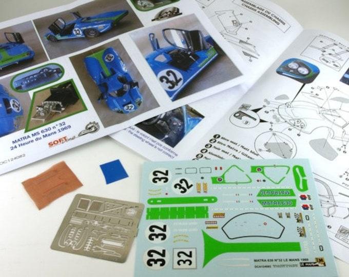 Matra MS630/650 Le Mans 1969 Guichet/Vaccarella #32 Le Mans Miniatures 1:24 124082KIT