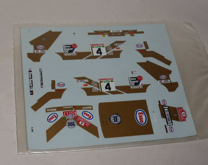 high quality 1:43 decals Lancia Delta HF 4WD Gr.A Esso Rally Sanremo 1987 #4 Tabaton/Tedeschini