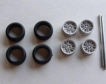 white metal  wheels set for Ferrari Dino 60s/70s etc Carrara Models 09 1:43