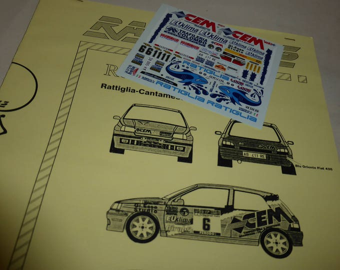 high quality 1:43 decals sheet for Renault Clio Gr.A Rally Elba 1997 Ratiglia/Merlin or Cantamessa/Fedeli RACING43 RD07