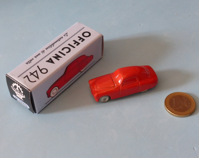 Fiat 1100 S Mille Miglia-type 1947 in red Officina942 new vintage small diecast model in 1:76 (00) scale new in box #1003A