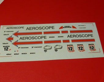 1:43 decals for Porsche 962C GrC Kremer-Aeroscope Supercup 1988 #12 Kris Nissen