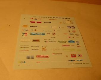 high quality 1:43 decals different logos Marangini, Avon, Consult, Balletti etc