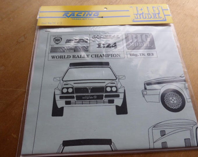 high quality 1:24 decals sheet for Lancia Delta HF Integrale World Rally Champion special street version Racing43 BIG-TK03
