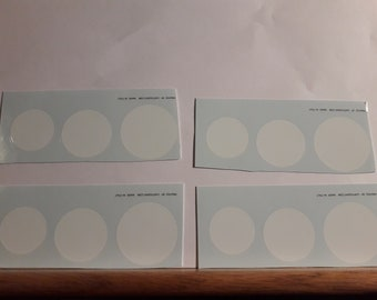 high quality 1:18 white race roundels mm 22/25/29 pack of 12 pieces Remember TK264