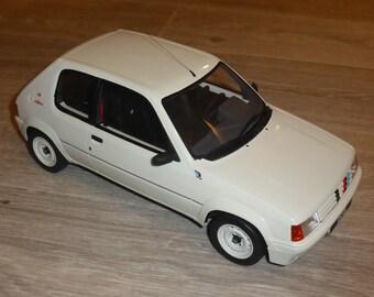 Peugeot 205 Rallye 1.3 phase 2 1988 white OttOmobile G039 1:12 resincast model as new