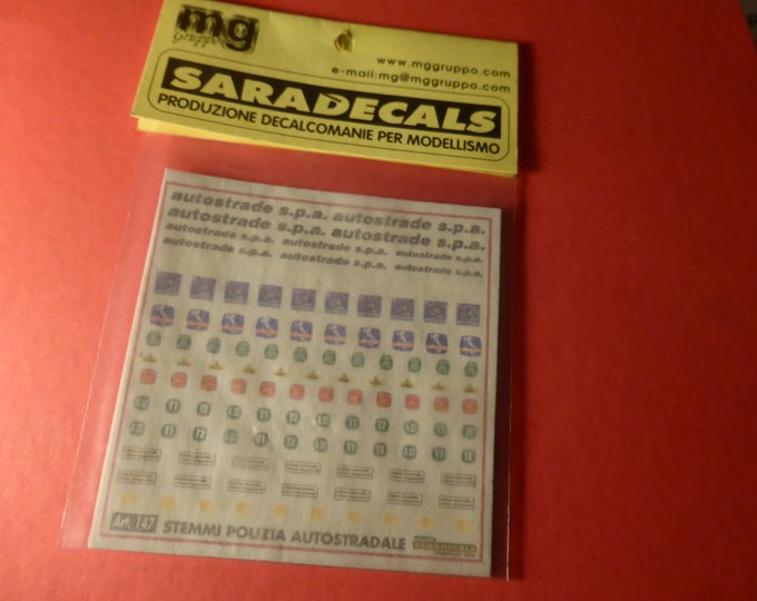 high quality 1:43 decals for Polizia Autostradale Polstrada cars (Italy) Saradecals printing #147