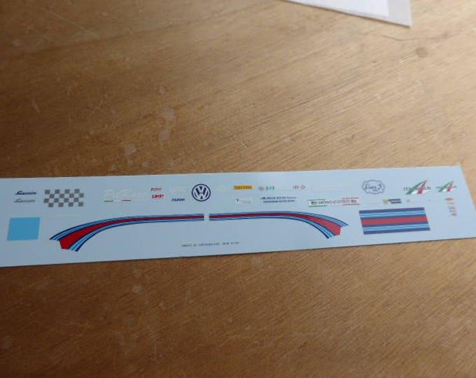 high quality 1:43 decals different logos Tiny Cars, Martini stripes, Giannini, Campionato Autostoriche, etc