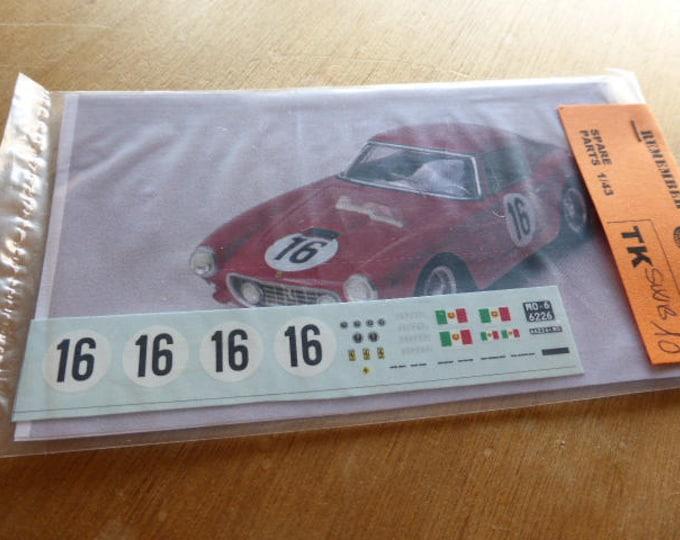 high quality 1:43 decals Ferrari 250 GT SWB Le Mans 1961 #16 Madyero by Remember TK-SWB10