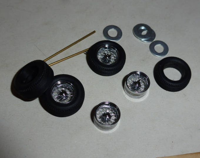photo etched and turned 1:43 Bosica wire Borrani wheels set for Ferrari 250 GTO, 250LM, 250 GT SWB