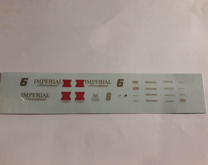 high quality 1:43 decals for Lotus Cosworth 78 Formula 1 Imperial Japanese GP 1977 Gunnar Nilsson TK248