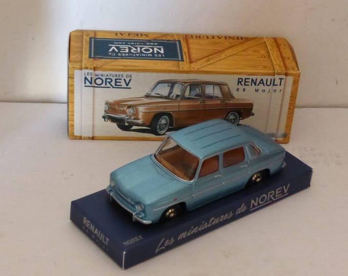 Renault 8 Major model Helsinki metallic blue - Norev Classics - Die cast model 1:43 - Brand new in box