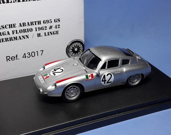 Porsche Abarth 695GS Scuderia Serenissima Targa Florio 1962 #42 Herrmann/Linge REMEMBER Models 1:43 - Factory built