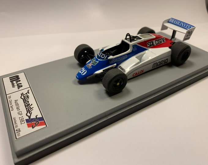 Fittipaldi - Cosworth F9 Formula 1 GP Austria 1982 Chico Serra MAGA Models 1:43 - Factory built
