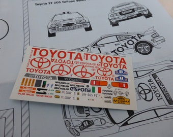 high quality 1:43 decals sheet for Toyota Celica ST205 Grifone Rally Valais 1997 Aghini RACING43 RD25