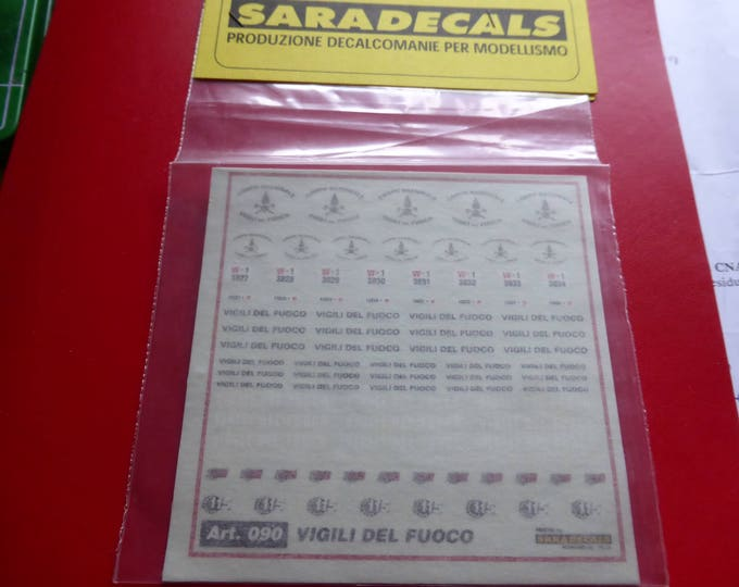 high quality 1:43 decals for Corpo Nazionale Vigili del Fuoco (115 - Italy) Saradecals printing