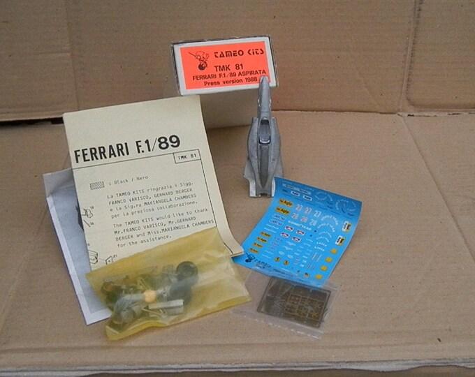 Ferrari F1/89 Formula 1 Press Version 1988 Berger / Mansell Tameo Kits TMK81 1:43