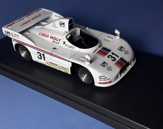 Porsche 908/4 Turbo Gr6 Joest Liqui Moly 1000km Nurburgring 1980 #31 Stommelen/Barth REMEMBER Models 1:43 - Factory built