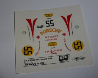 high quality 1:43 decals Porsche 550 Carrera Panamericana 1954 #55 Leader-BBR #015