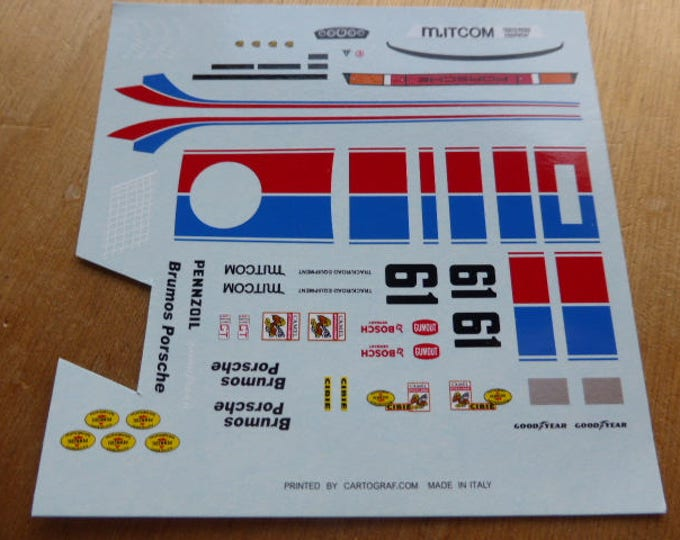 high quality 1:43 decals Porsche 934 IMSA Brumos 24h Daytona 1977 #61 Busby/Gregg Madyero by Remember TK02