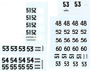 decals sheet various racing numbers for cars of the 50/60s 1:43 scale Le Mans Miniatures DCAGTS999