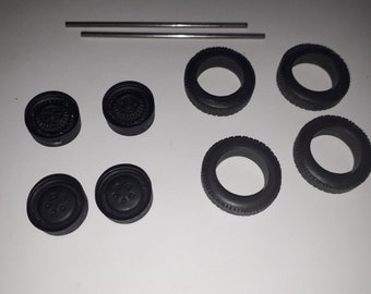 1:24 racing wheels and tires for CD Panhard 1962 and other racing cars of the 60s Le Mans Miniatures ACW124019
