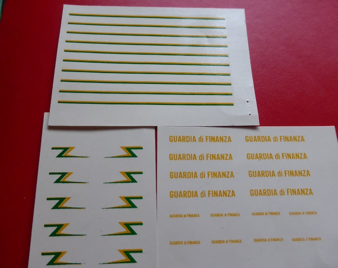 high quality 1:43 decals pack for Guardia di Finanza (Italy) vehicles