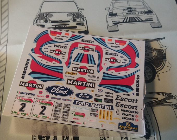 high quality 1:43 decals sheet for Ford Escort Cosworth Martini Coppa Liburna 1997 Cunico RACING43 RD03