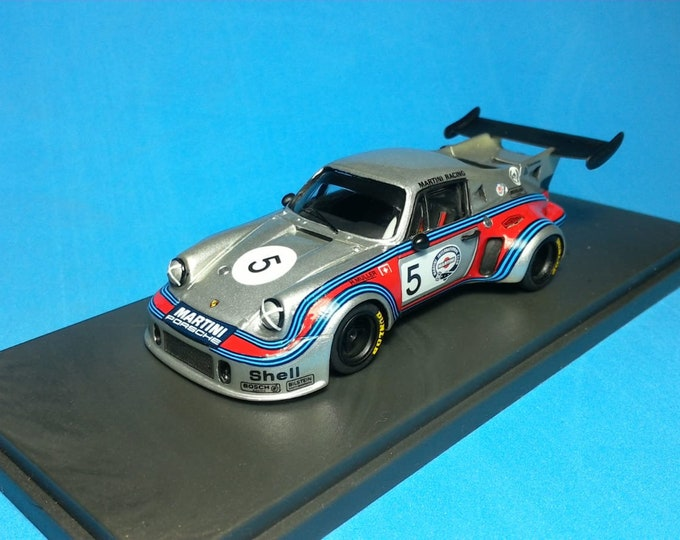 Porsche 911 Carrera RSR Turbo Martini 1000km Brands Hatch 1974 #5 Van Lennep/Muller REMEMBER Models 1:43 - Factory built