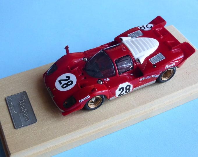 Ferrari 512S Daytona 24 hours 1970 #28 Andretti/Merzario Madyero by Remember 1:43 Factory built (special edition)