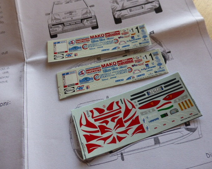 high quality 1:43 decals sheet for Fiat Punto Kit Car Grifone Rally Molise 2000 Navarra RACING43 RK290