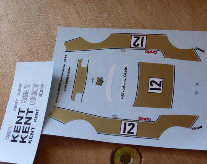 high quality 1:43 decals Alfa Romeo GTAm 2000 Grafo Racing-Kent Zolder 1971 #12