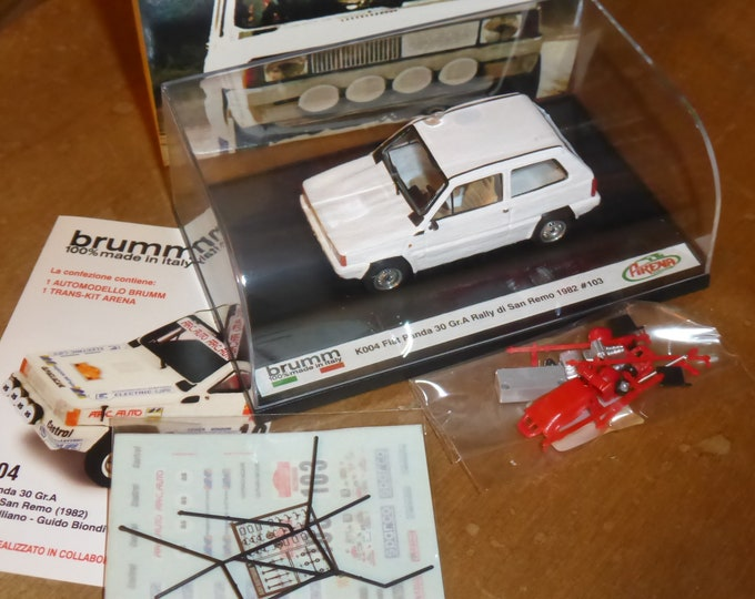 Fiat Panda 30 Group A Rally Sanremo 1982 #103 Galliano/Biondi Brumm-Arena special model K004 1:43