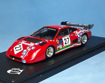 "Ferrari 512BB IMSA-GTX Ch.35529 Bellancauto Ferrarelle 1000km Imola 1984 #27 Micangeli/Micangeli/""Gero"" Remember factory built 1:43"