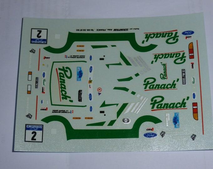 1:43 decals for Ford Sierra Cosworth Panach' Rallye du Var 1988 #2 Auriol/Occelli Provence Miniatures