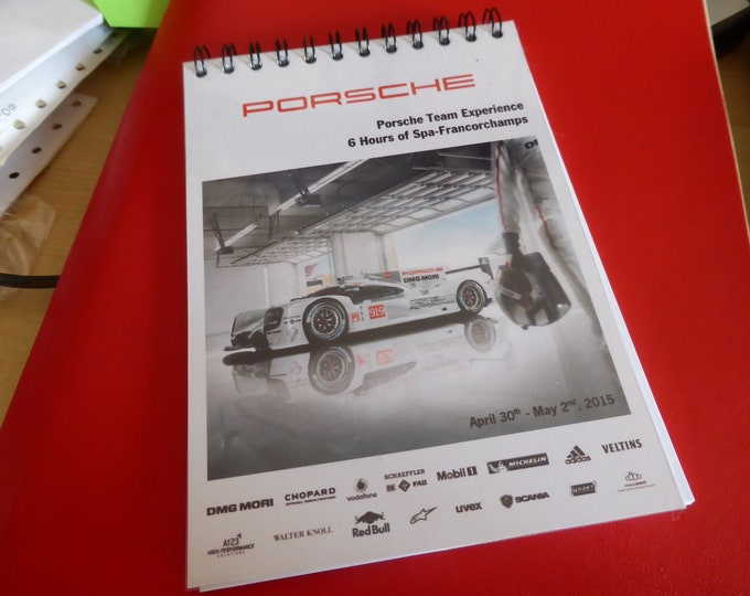 Porsche Motorsport official media notebook 6 Hours of Spa Francorchamps 2015
