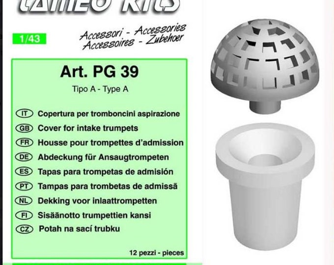 machined intake trumpets covers  for 1:43 scale models (12 pieces) Tameo PG39