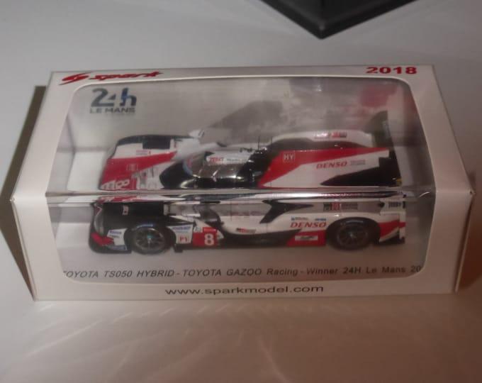 Toyota TS050 Hybrid LMP1 Le Mans 2018 winner Alonso/Nakajima/Buemi Spark 43LM18 still sealed 1:43