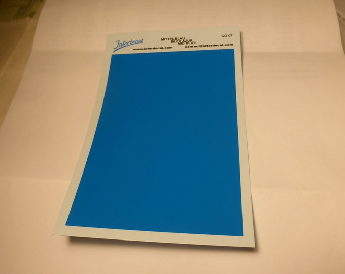 high quality 1:43 decal sheet mm95x140 MEDIUM BLUE Tin Wizard CO07