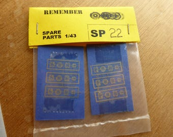 photo etched gear selectors round and rectangular for GT and racing cars 1:43 (4 types, pack of 24) Remember SP22