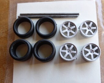 white metal wheels for Ferrari 360 N-GT and other racing GT cars Carrara Models 71/72 1:43