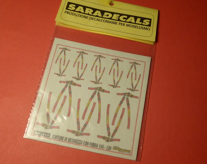 high quality 1:24 decals for seatbelts (two sizes, including 1/43 size) Saradecals printing #112