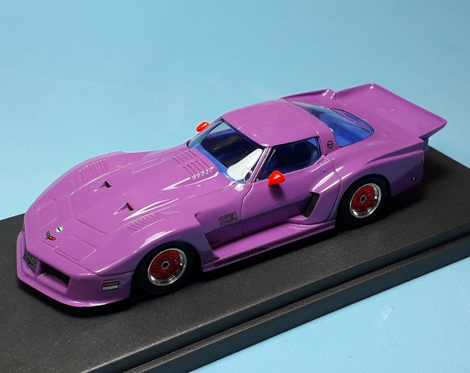 Chevrolet Corvette Turbo Special Greenwood 1981 purple with blue interiors REMEMBER Models 1:43 - Factory built