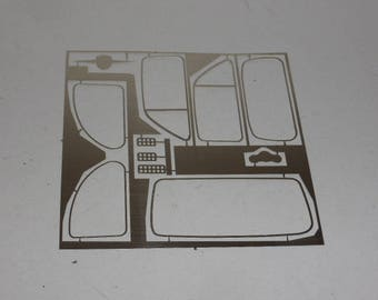 Set of 1:18 photoetched accessories for Abarth / Fiat / Giannini / Steyr 500-derived cars