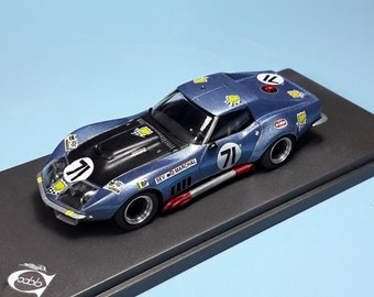 """Chevrolet Corvette C3 Le Mans 1972 #71 Aubriet/""""Depnic"""" REMEMBER Models 1:43 - Factory built"""